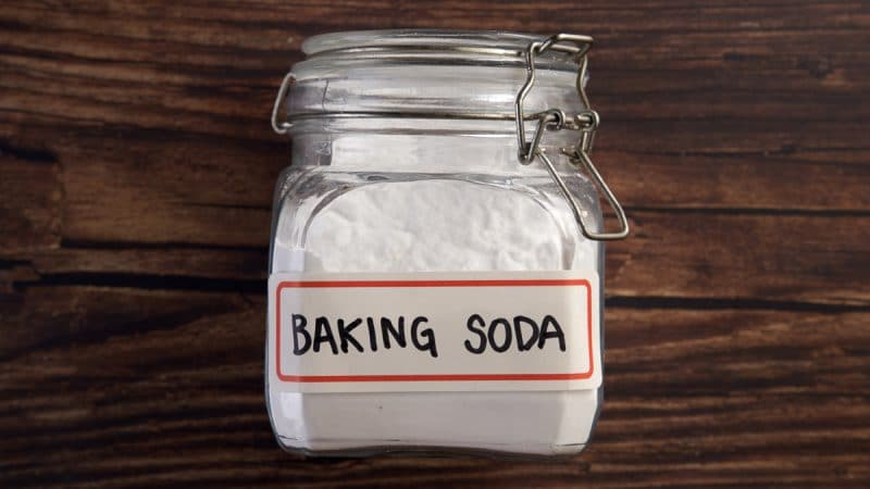 Baking soda can help repel roaches